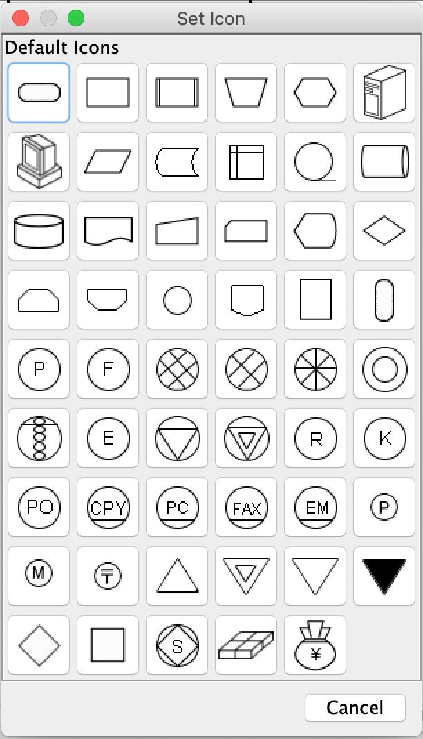 Set icon palette