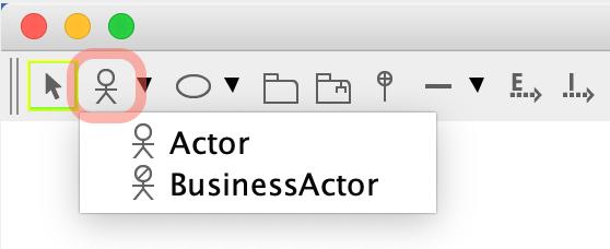 Actors on tool palette