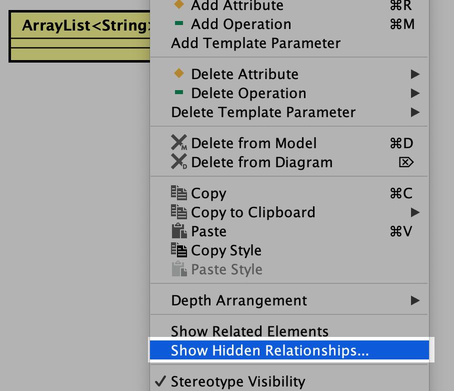 Show hidden menu