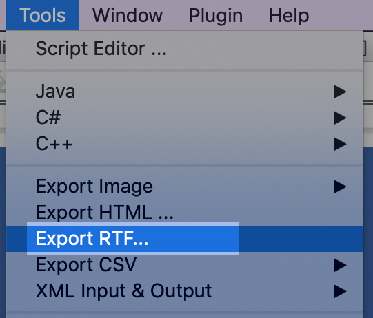 Export RTF