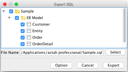 SQL-Export