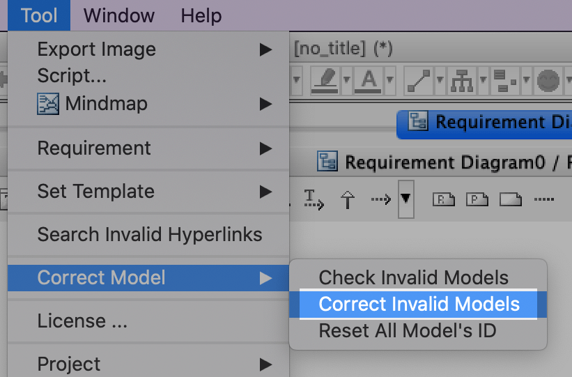 Correct Invalid Models in SysML