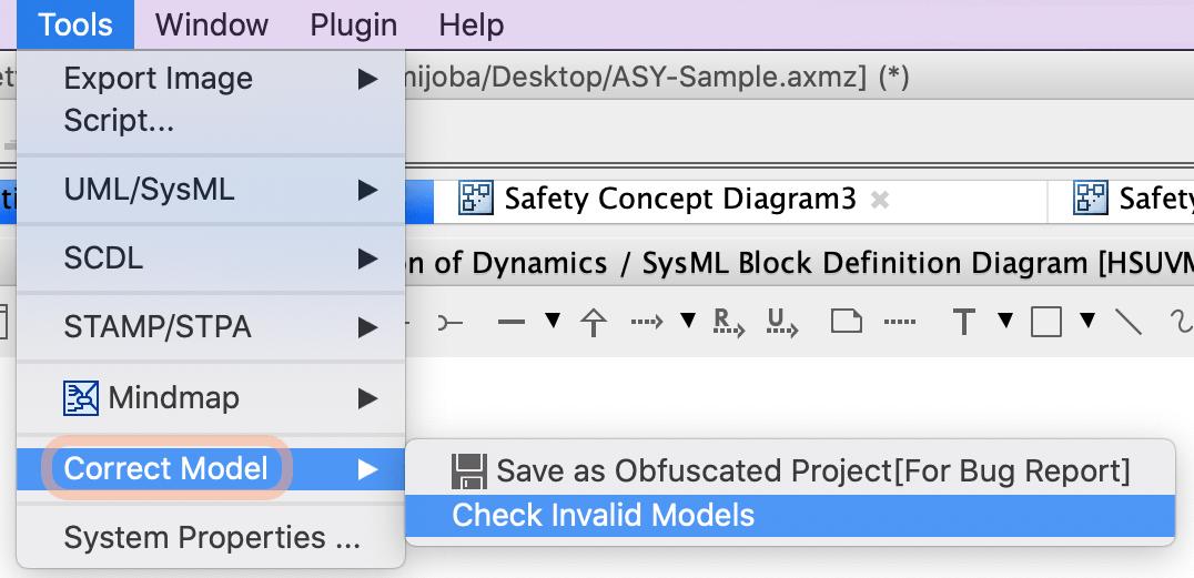 Correct Invalid Models