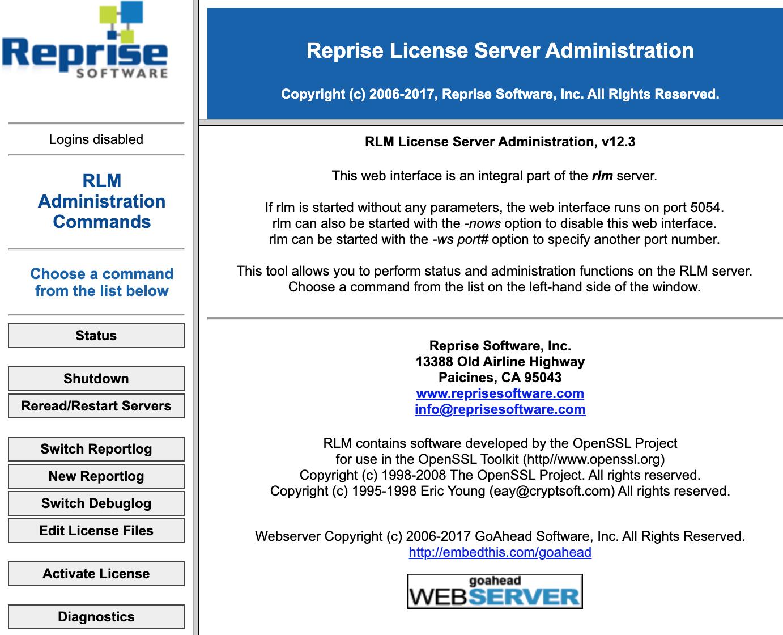RLM Web interface