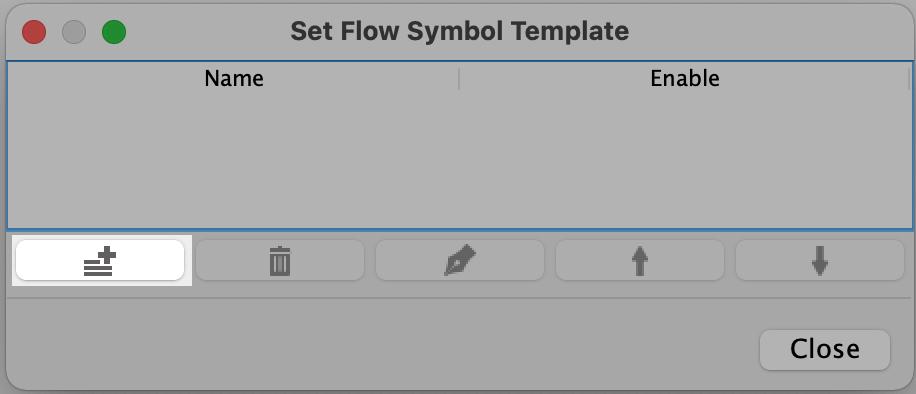 Create a flow symbol palette