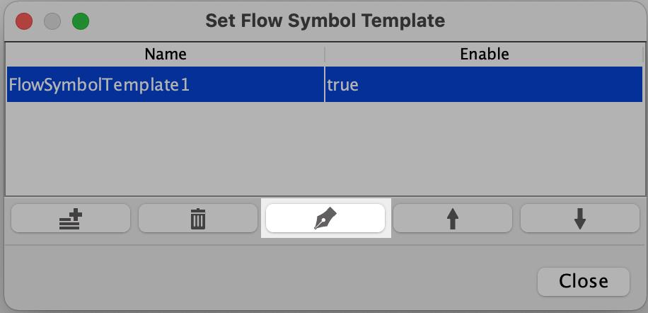 Edit flow symbol palette