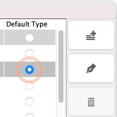 Setting Default ER Data Type