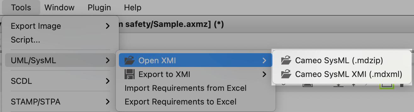 Import Cameo XMI